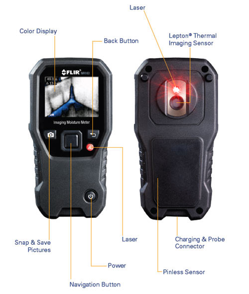 FLIR MR160: The first two-in-one moisture meter & thermal